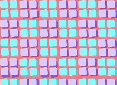 Digital Art - Lots Of Squares by Louisa Knight