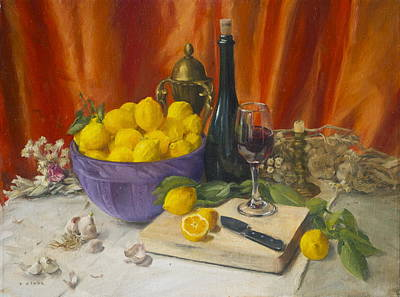 Painting - Lotta Lemons by Roger Clark