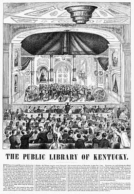 Lottery, 1873 Art Print