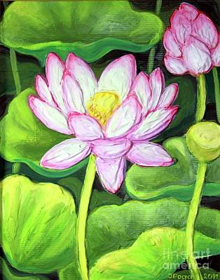 Painting - Lotus 1 by Inese Poga