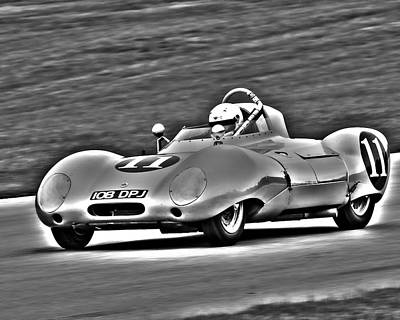 Photograph - Lotus 11 Monochrome by Alan Raasch