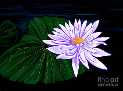Painting - Lotus Blossom At Night II by Patricia Griffin Brett