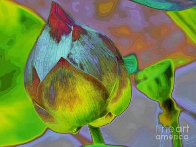 Digital Art - Lotus Dreaming 2 by Fran Woods