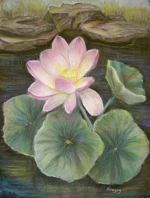 Painting - Lotus by Katalin Luczay