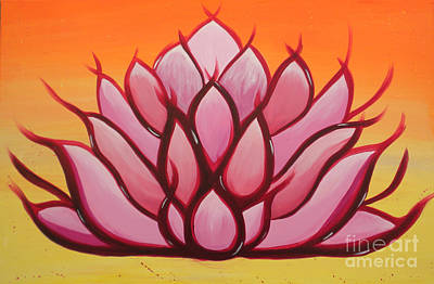 Lotus Art Print by Silvie Kendall