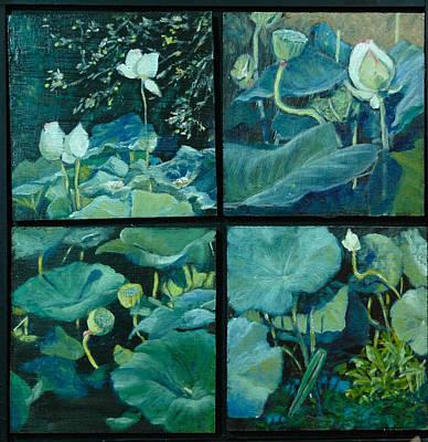 Lotus Bud Painting - Lotus Studies by Aline Lotter