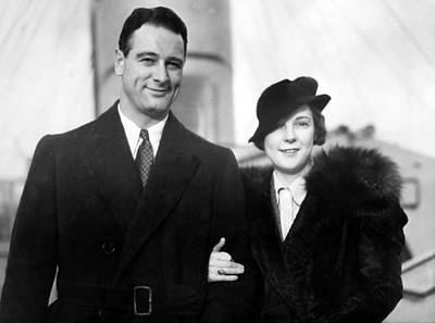 Lou Gehrig Photograph - Lou Gehrig And Bride Eleanor Arrive by Everett