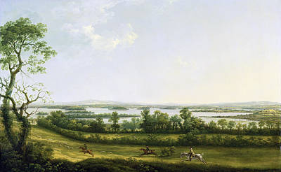 In The Distance Painting - Lough Erne From Knock Ninney - With Bellisle In The Distance by Thomas Roberts