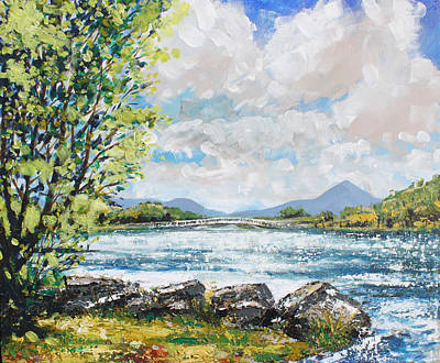 Patrick Painting - Lough Lannagh Castlebar by Conor McGuire