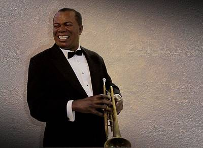 Cabin Wall Photograph - Louis Armstrong by David Dehner