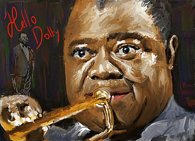 Crowd Scene Digital Art - Louis Armstrong Hello Dolly by Yury Malkov