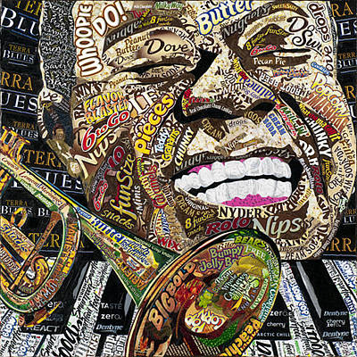 Limited Edition Mixed Media - Louis Armstrong by Laura Benjamin