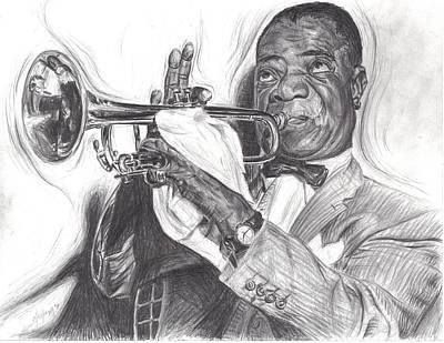 Drawing - Louis Armstrong by Michael Morgan