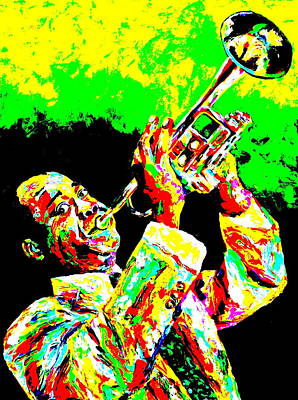 Obriens Painting - Louis Armstrong by Mike OBrien