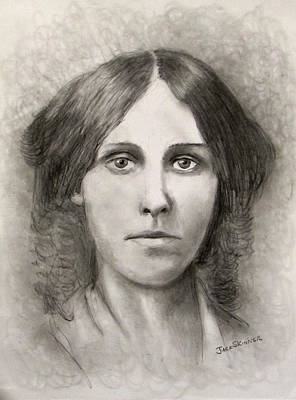 Concord Drawing - Louisa May Alcott by Jack Skinner