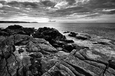 Black And White Photograph - Louisbourg Shore by Darren Creighton