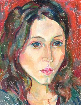 Paper Painting - Louise Drul by Leonid Petrushin