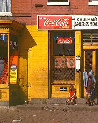 Digital Art - Louise Rosskam's Shulman's Market by Timothy Bulone