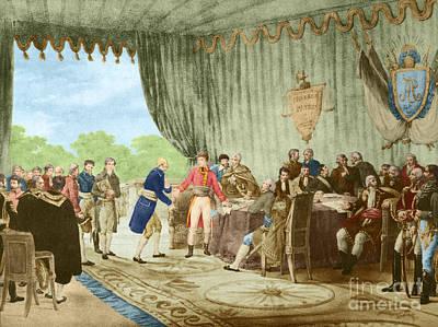 Louisiana Purchase, 1803 Art Print by Photo Researchers