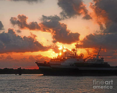 Louisiana Sunset In Port Fourchon Art Print