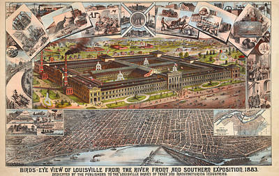 Louisville 1883 Art Print by Donna Leach