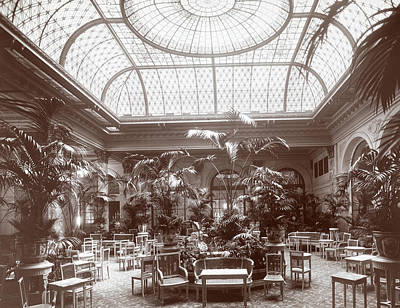 Glass Ceiling Photograph - Lounge At The Plaza Hotel by Henry Janeway Hardenbergh