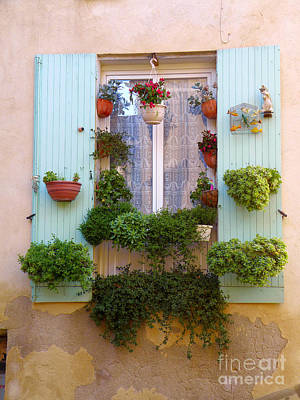 Digital Art - Lourmarin France Window by Eva Kaufman