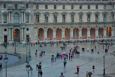 Photograph - Louvre In The Rain by Steven Richman