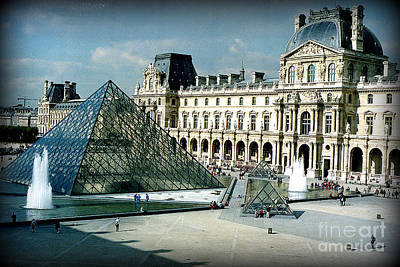 Art Print featuring the photograph Louvre by Kathy Bassett