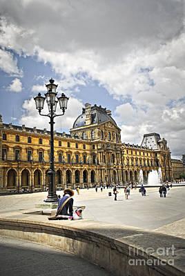Building Exterior Photograph - Louvre Museum by Elena Elisseeva
