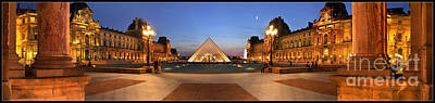 Photograph - Louvre Museum Panoramic by Pg Reproductions