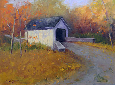 Loux Covered Bridge In Bucks County Art Print by Kit Dalton