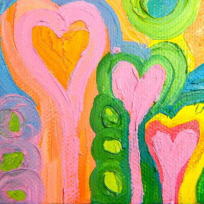 Painting - Love 4 by Kat Kemm
