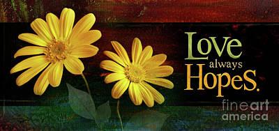 Mixed Media - Love Always Hopes by Shevon Johnson