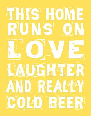 Digital Art - Love And Cold Beer Poster by Jaime Friedman