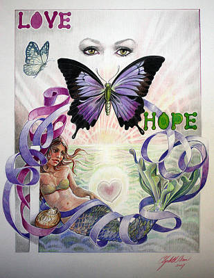 Love And Hope Art Print by Elizabeth Shafer