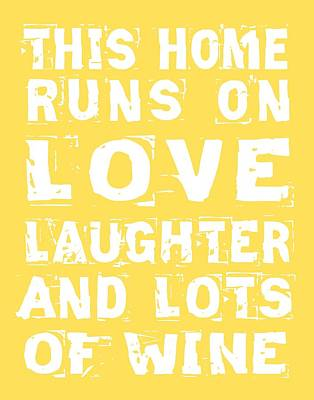 Love And Lots Of Wine Poster Art Print