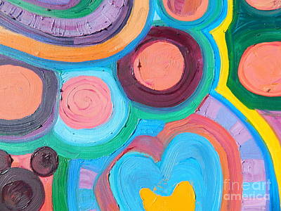 Painting - Love Circle by Kat Kemm