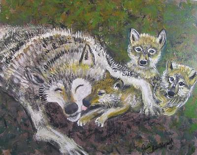 Painting - Love Cubs by Julia Rita Theriault