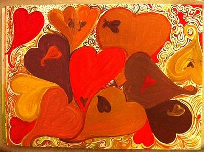 Corazones Painting - Love Day by Loni  Duek