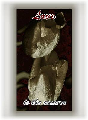 Love Art Print by Lynne and Don Wright