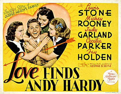 Posth Photograph - Love Finds Andy Hardy, Judy Garland by Everett