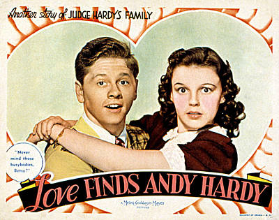 Posth Photograph - Love Finds Andy Hardy, Mickey Rooney by Everett