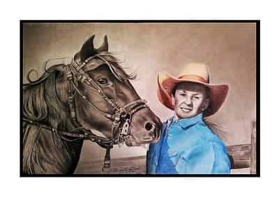 Cowboy Hat Mixed Media - Love For Elegance by Sohaj Singh Brar