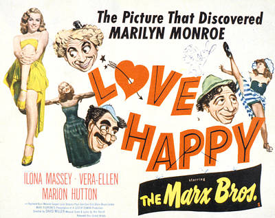 Groucho Marx Photograph - Love Happy, Marilyn Monroe, Marion by Everett