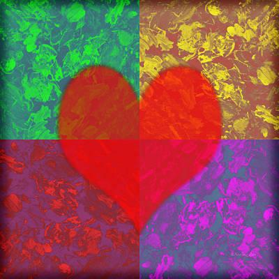 Photograph - Love Heart 1 by Xueling Zou