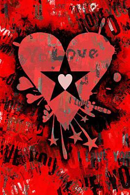 1920s Flapper Girl - Love Heart 6 of 6 by Roseanne Jones