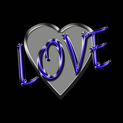 Digital Art - Love In Blue And Silver by Andrew Fare