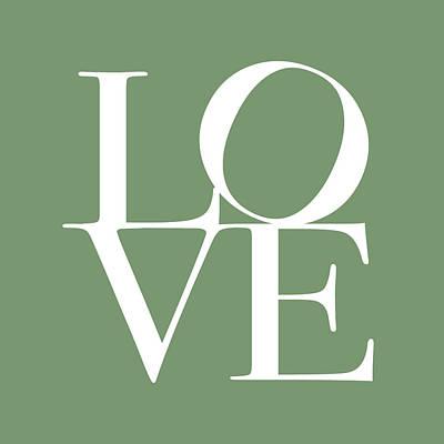 Kiss Digital Art - Love In Green by Michael Tompsett