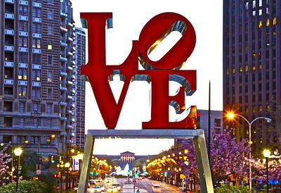 Art Print featuring the photograph Love In Philadelphia by Alice Gipson